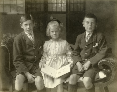 © All rights reserved. The three children of Robert Henderson Watherston, Robert, Marion and Jack.  Image courtesy of Susan Bryer.