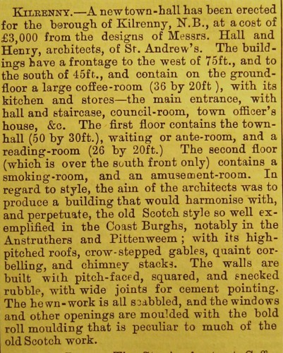 © All rights reserved. Building News, Vol. 42, 17 February 1882, p. 203.  Courtesy of Robert Hill.