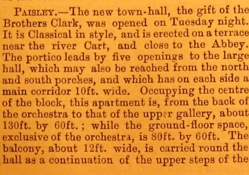 © All rights reserved. Building news 3 February 1882, v42, p139. Courtesy of Robert Hill