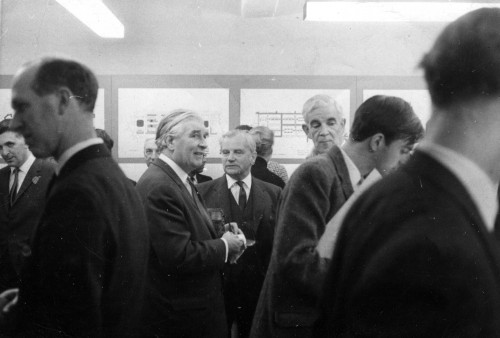 "© All rights reserved. Courtesy of David Ross.  Picture taken at opening ceremony of the ""New Life For The New Town"" Exhibition at the Planning Department Gallery in Market Street, Edinburgh  in the late 60"