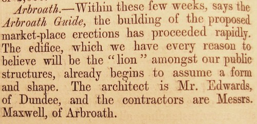 © All rights reserved. The Builder, Vol. 12,  25 March 1854,  page 156.  (Courtesy of Robert Hill)