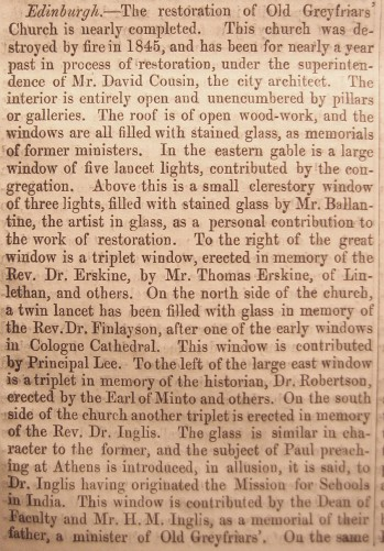 © All rights reserved. The Builder, Vol. XV,  2 May 1857,  page 249.
